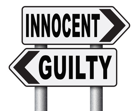 proven: innocent or guilty presumption of innocence until proven guilt as charged in a fair trial for crime suspect