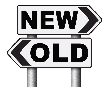 newer: new old modern or antique latest trend or newest fashion upgrade version