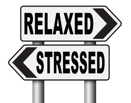 distressing: stress therapy and management helps in relaxation reduce tension and relief negativity become relaxed not stressed reduction of negative vibes distressing trough meditation and concentration Stock Photo