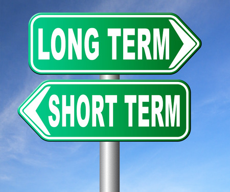 long term short term strategy planning or thinking plan and think ahead for the near and far future 免版税图像 - 60215819