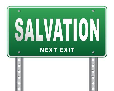 autonomia: salvaci�n que Jes�s seguimiento y Dios para ser rescatados salvar su alma, cartelera se�al de tr�fico.