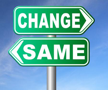 malos habitos: cambiar misma repetir el viejo o innovar e ir para el progreso en su carrera de vida o una nueva ruptura relación con los malos hábitos de estancamiento o la mejora y evolución señal de tráfico