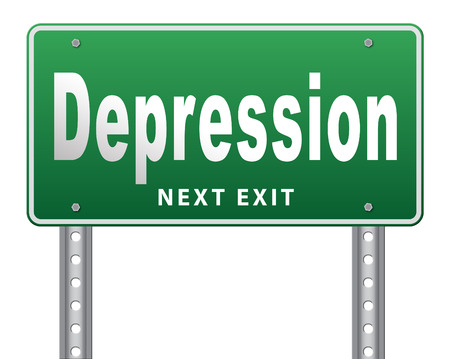 depressive: Depression or nervous breakdown disorder of mental health psychotherapy diagnosis for therapy depression.