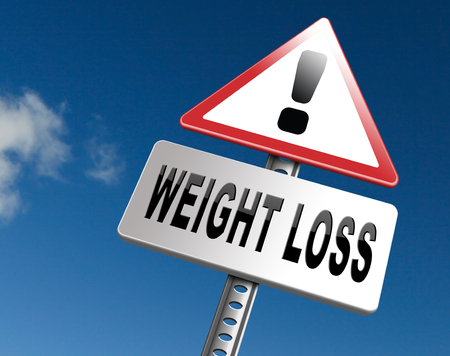 kilo: weight loss lose extra pounds by sport or dieting losing overweight kilos and stop obesity road sign billboard