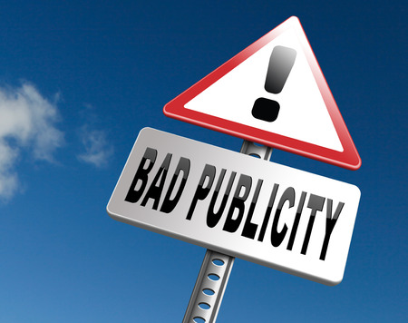 Bad publicity, negative gossip ruining reputation and giving a bad name. Stock Photo