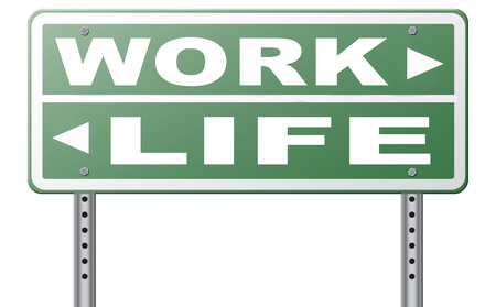 burnout: work life balance burnout stress test importance of career versus family leisure time and friends workaholic road sign arrow