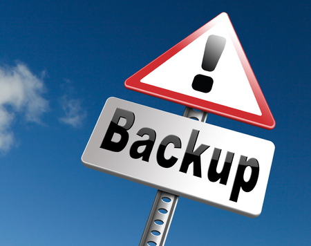 harddrive: backup data document or file online on copy in the cloud on a harddrive disk on a computer or server for file security