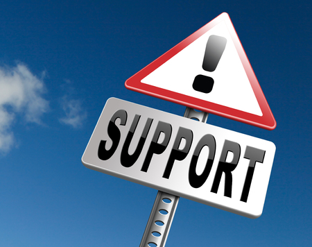 help desk: support desk icon or online help desk technical assitance and customer service Stock Photo