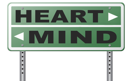 instinct: heart over mind follow your instinct and gut feeling or intuition insight