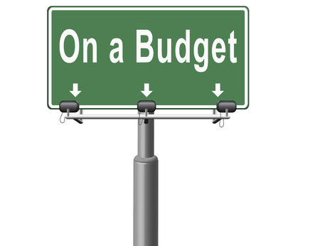 household money: Budgeting the income for deficit or living on a budget with a restricted amount of money. Household budget Average revenue and expediture. Stock Photo