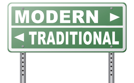 hype: modern or traditional style new or old fashion vintage or new latest hype or fashion road sign