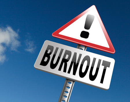 burnout: Burnout or psychological work stress. Occupational burn out or job demotivation, exhaustion, lack of enthusiasm and motivation, ineffectiveness and demotivated. Stock Photo