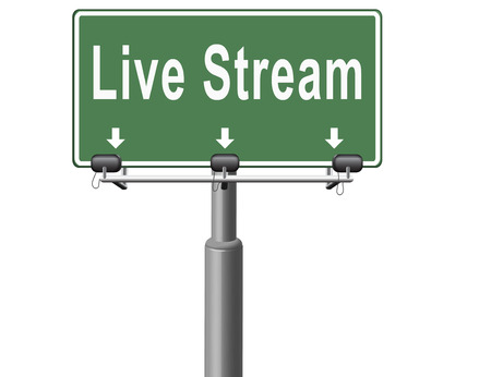 live stream: live stream music song audio or listen to radio streaming road sign billboard video or movie