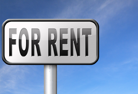 let: For rent sign, renting a house apartment or other real estate to let label. Home flat or room to let Stock Photo