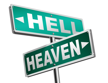 the salvation: heaven or hell devils and angels salvation from evil save your soul and spirit search and find Jesus and God