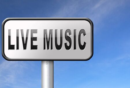 live on air: music live stream radio music or listen live on air broadcasting songs program road sign