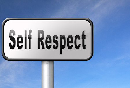 dignity: Self respect or dignity self esteem or respect confidence and pride Stock Photo