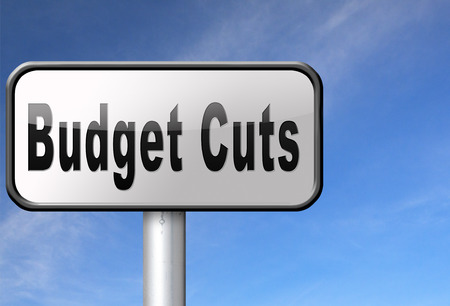 spendings: Budget cuts reduce costs and cut spendings during crisis or economic recession