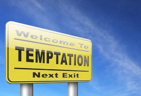 malos habitos: La tentación resistir las tentaciones del diablo pierden los malos hábitos de autocontrol.