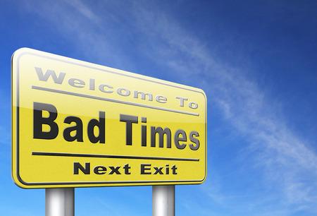 悪い問題のための不幸危機不吉な日先近い将来大きなトラブル警告運時