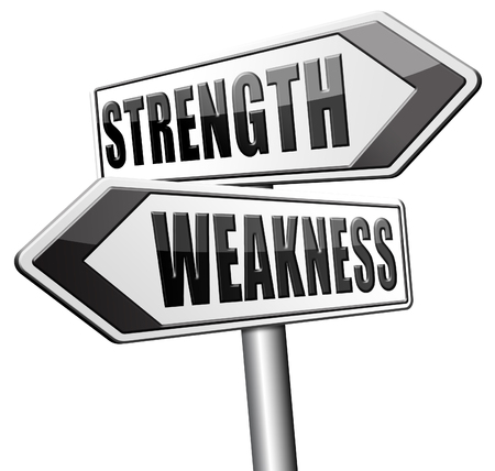 weakness: strength versus weakness strong or weak overcome problems by being strong and not weak accept the challenge to success