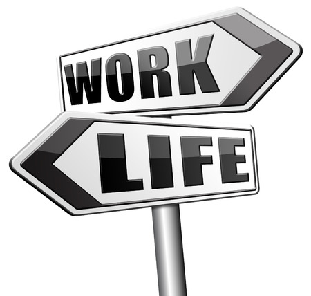 leisure time: life work balance importance of career versus family leisure time and friends avoid burnout mental health stress free test road sign icon