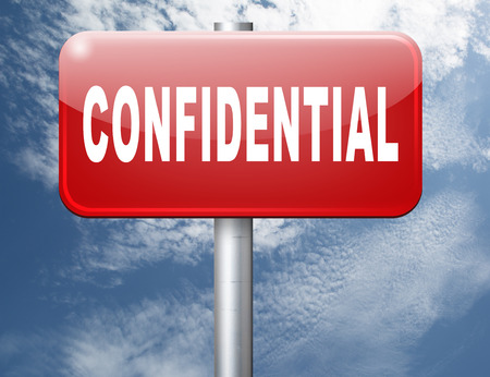 classified: confidential top secret classified personal information, road sign billboard.