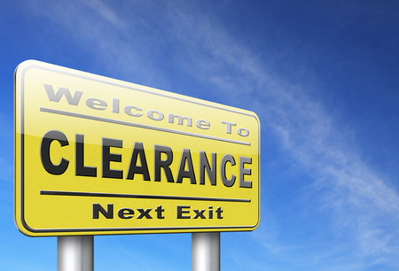 clearance grand sale sales and reduced prices % off authorization granted or denied by bill computer and information security Stock Photo