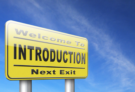 about us: Introduction or about us road sign a biography or bio