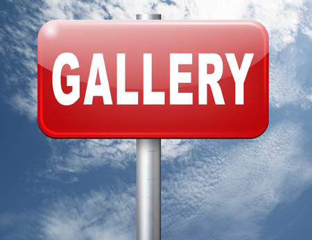 gallery wall: gallery wall of picture and image and art exhibition, road sign billboard