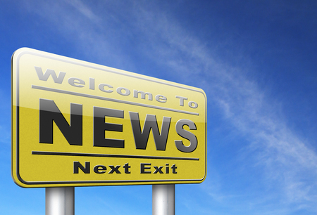 actuality: hot and latest news bulletin breaking new information Stock Photo