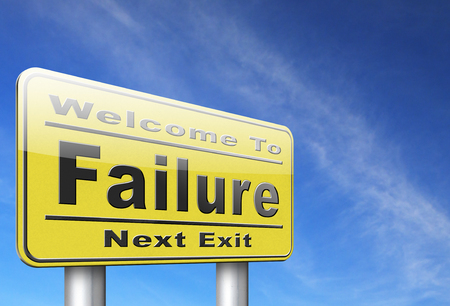 failing: failure fail exam or attempt can be bad especially when failing an important job task or in your study failing an exam. You feel frustrated and being a looser, road sign billboard