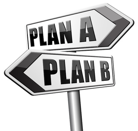 different strategy: plan a plan b backup plan or alternative option Stock Photo