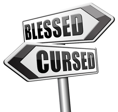 unlucky: blessed cursed sacred and Devine holy or curse dammed and a burden good or evil bad or good luck lucky or unlucky road sign