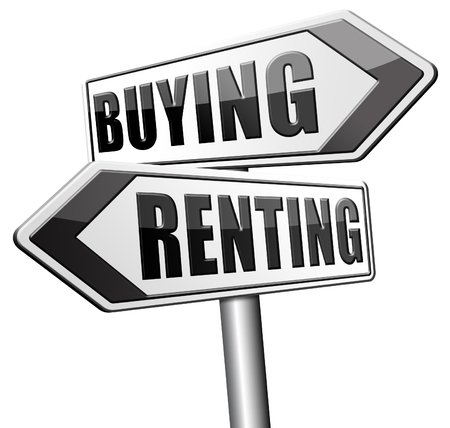 Renting: renting mortgage home ownership rent or buy a house or property and having a bank loan