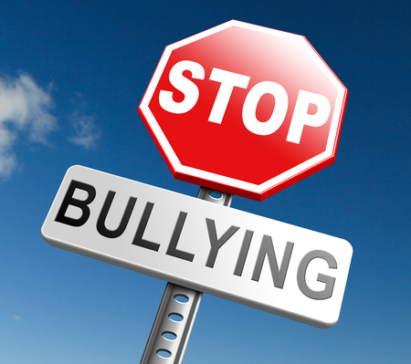 bullies: stop bullying no harassment or threat from bullies at school or at work, stopping an online internet bully