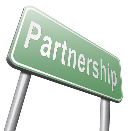 cooperate: Partnership partners in crime or business partner cooperate pact