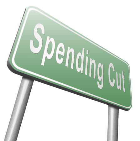 economic recession: Spending cut lower budgets and public spendings cuts economic recession