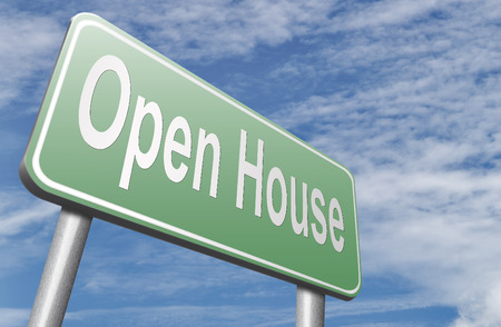 Open house or model house viewing before sale or renting a new home Stock Photo