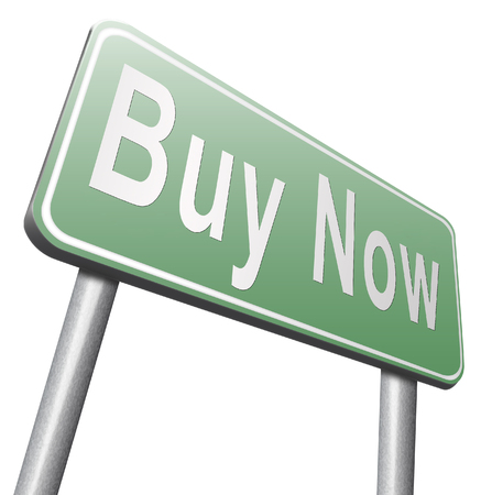 internet shop: Buy now sign and here online sales sell on internet shop online shop buy and add to cart sign shopping webpage. Promotion bilboard on white background.