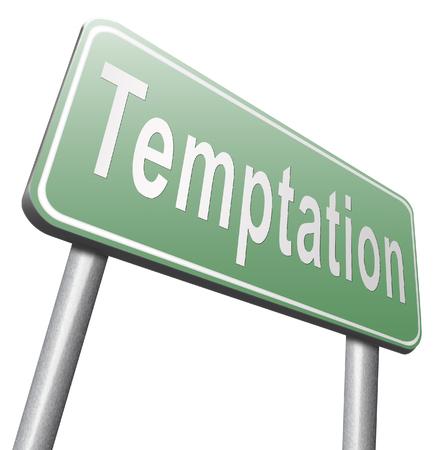 bad habits: La tentación resistir las tentaciones del diablo pierden los malos hábitos de autocontrol.