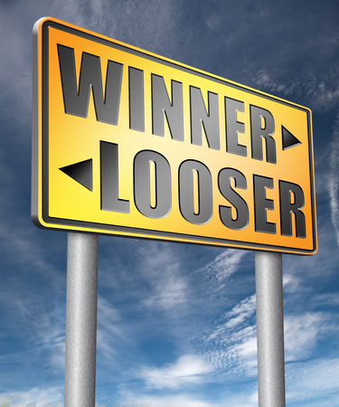 bad fortune: winner looser win or loose the sports game or competition start winning and stop being a looser change your luck