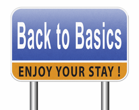 Back to basics keep it simple back to the roots Stock Photo
