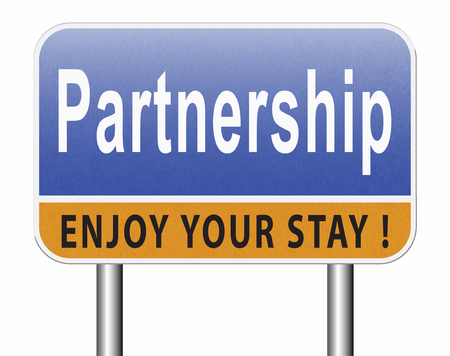Partnership partners in crime or business partner cooperate pact Standard-Bild - 89974746