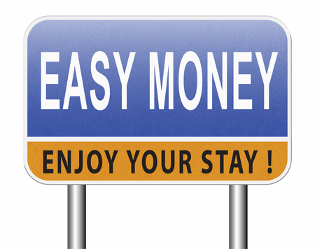 Fast easy money quick extra cash make a fortune online income Standard-Bild - 89974747