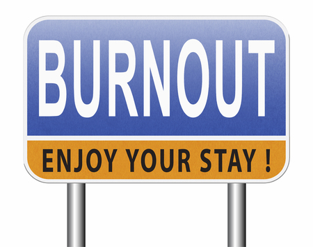 Burnout or psychological work stress. Occupational burn out or job demotivation, exhaustion, lack of enthusiasm and motivation, ineffectiveness and demotivated. Stock fotó