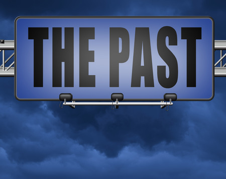 the past leading back into history road sign Standard-Bild - 89974179