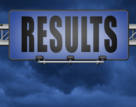 results and succeed business success be a winner in business elections pop poll or sports market result or market report business result business report election results Standard-Bild - 89902812