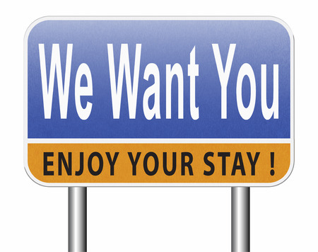 we want you for the job application, hiring now Standard-Bild - 89902822