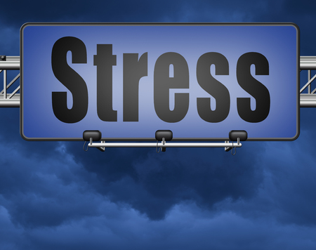 Stress management for disorder from acute work pressure is a factor triggering a panic attack bad mental health. Standard-Bild - 89902830